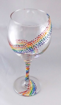 """""""Paint on a wine glass"""" Class!"""