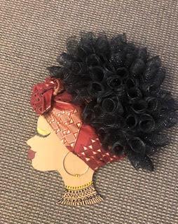 Black History Month Diva Wreath
