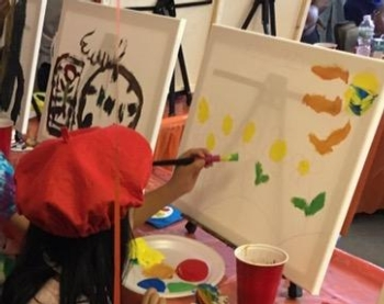 "'""Kids Paint Free"" EventSponsored by: Karen Lovett"
